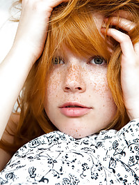 Natural Red Head With Freckles Naked