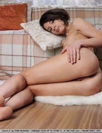 Adorable, petite model with luscious, nubile body