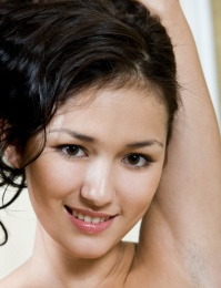 Amateur beauty with sweet, youthful charm