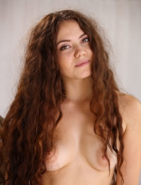 Bushy hair on a hot naked young babe
