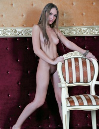 Cute chick gets naked and bam