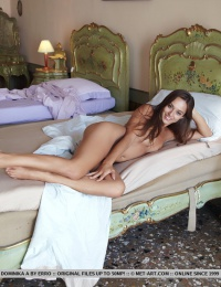 Dominika has no inhibitions at all with flaunting her naked, gorgeous body