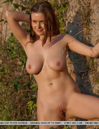 Hot girl out in the bush showing off her naked body
