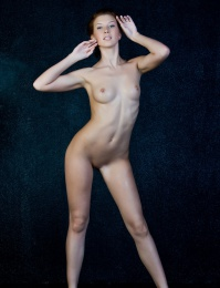 hot red head with pale skin from Met-Art