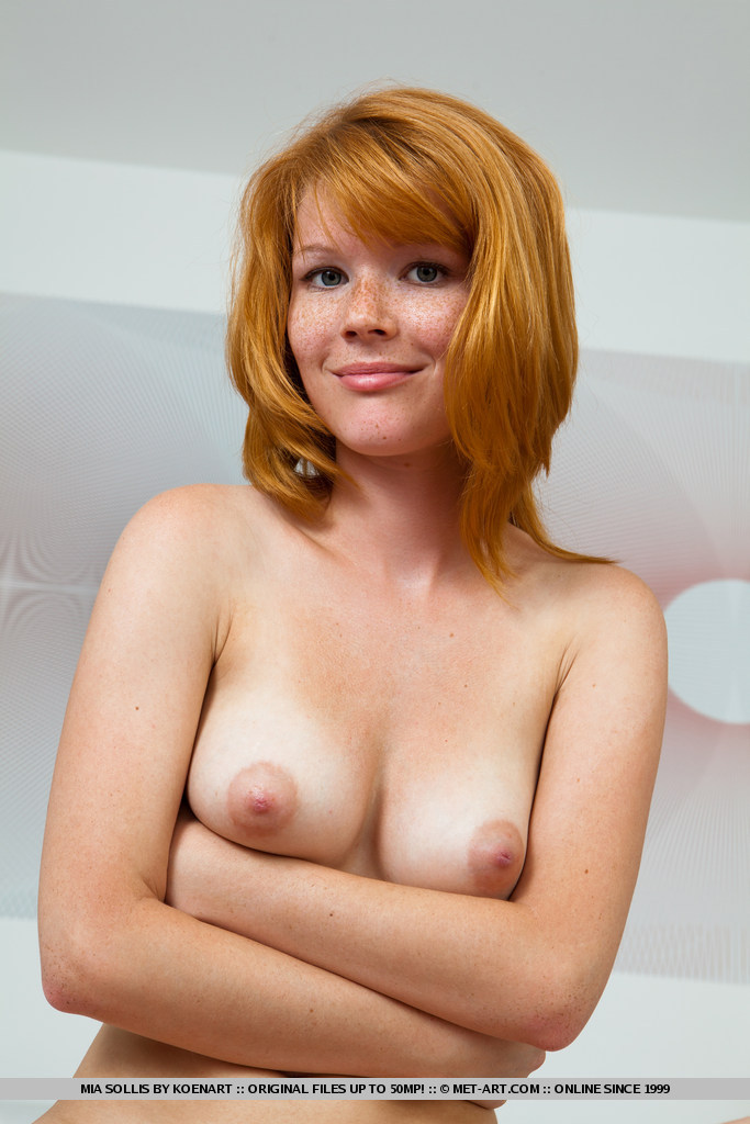 Hot nude redhead with freckles