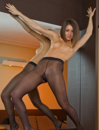 Naughty ballet girl who is very naked