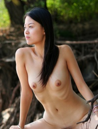 Naughty natural Asian model porn gallery