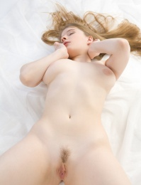 pale skin perfect girl showing us her pink