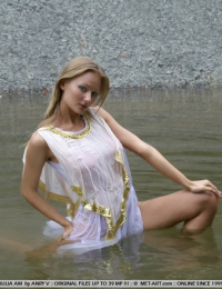 perfect blond girl in the water butt fucking naked