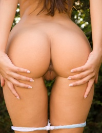 perfect girl with a perfect round ass