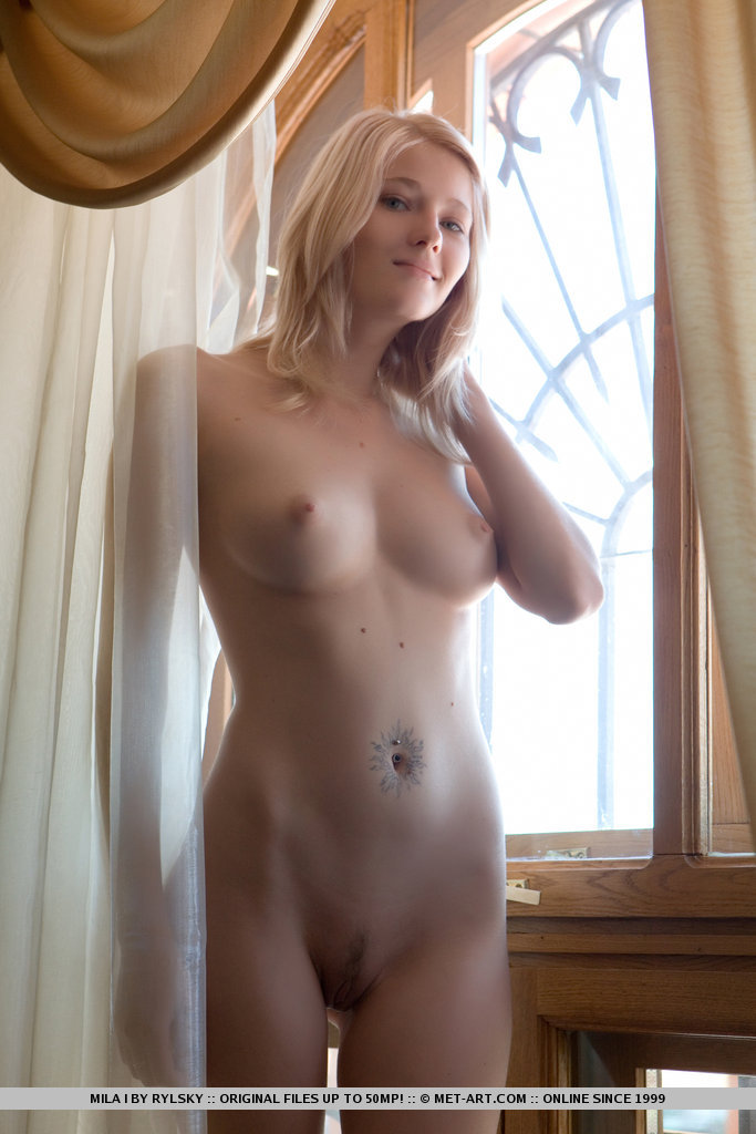 Girl nude in school