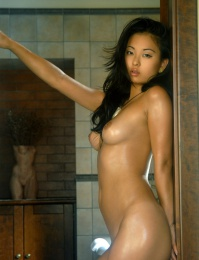 Pretty cute Asian with great boobs