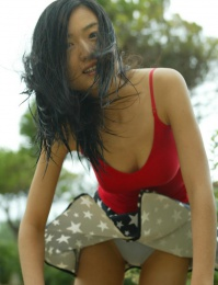 Raw set of a very cute oriental girl on holiday