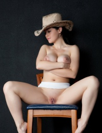 sexy cow girl with big tits
