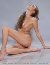 Slender model with well toned body and long limbs