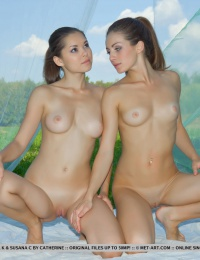 Two white girls with great young bodies